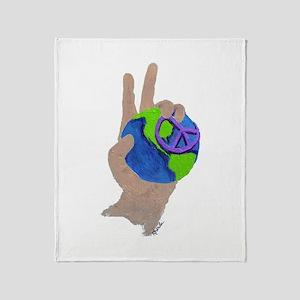 Peace on Earth - Throw Blanket