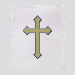 Gold Cross - Throw Blanket