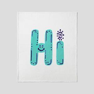 Hi - Throw Blanket