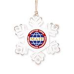 MAIF Rustic Snowflake Ornament