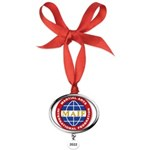 MAIF Oval Year Ornament