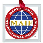 MAIF Square Glass Ornament
