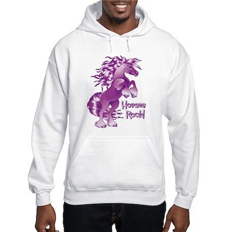 Purple Horses Rock Hooded Sweatshirt