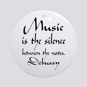 Debussy Silence Quote Ornament (Round)