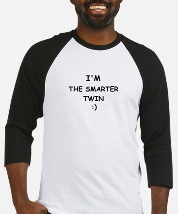 I'M THE SMARTER TWIN Baseball Jersey