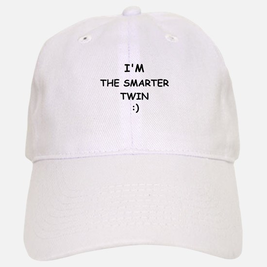 I'M THE SMARTER TWIN Baseball Baseball Cap