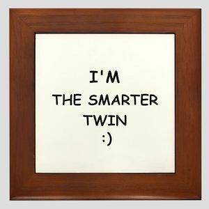 I'M THE SMARTER TWIN Framed Tile