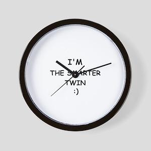 I'M THE SMARTER TWIN Wall Clock