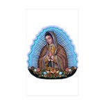 Lady of Guadalupe T5 Sticker (Rectangle 10 pk)