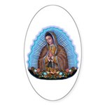 Lady of Guadalupe T5 Sticker (Oval 10 pk)