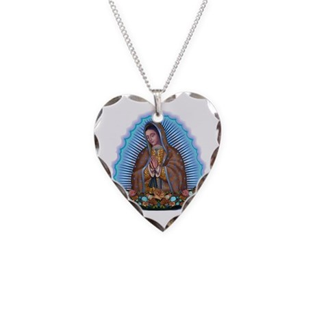 Lady of Guadalupe T5 Necklace Heart Charm