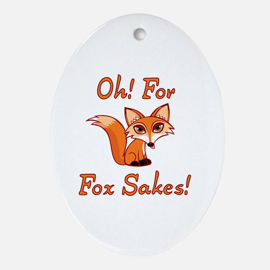 Funny Foxy Oval Ornament