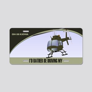 OH-58 Kiowa License Plate