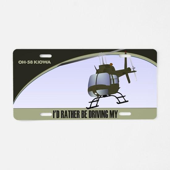 OH-58 Kiowa License Plate