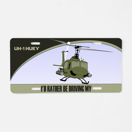 UH-1 Gunship License Plate