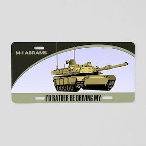 M-1 Abrams Tank License Plate