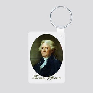 Thomas Jefferson Aluminum Photo Keychain