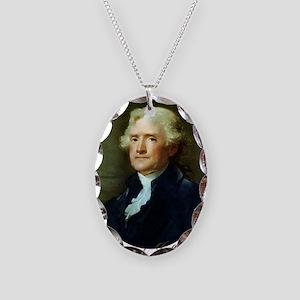 Thomas Jefferson Necklace Oval Charm