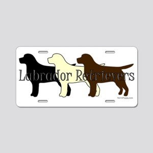 Labrador Retrievers Aluminum License Plate
