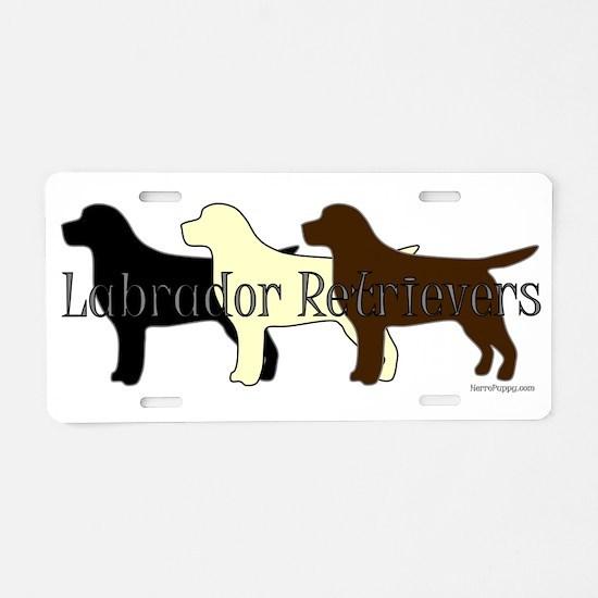 Labrador Retrievers Aluminum License Plate
