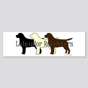 Labrador Retrievers Sticker (Bumper)