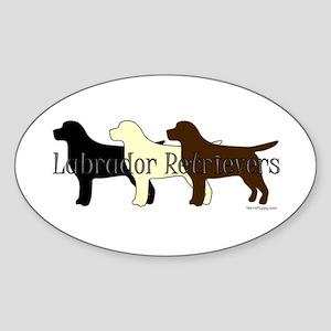 Labrador Retrievers Sticker (Oval)