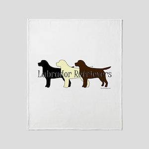 Labrador Retrievers Throw Blanket