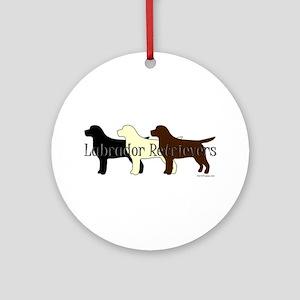 Labrador Retrievers Ornament (Round)