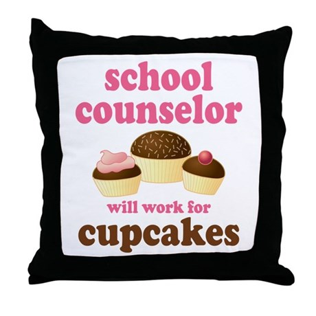 Funny School Counselor Throw Pillow