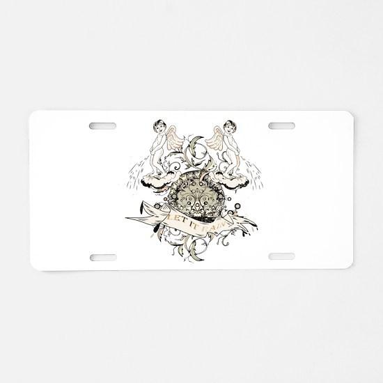 Let It Rain Aluminum License Plate