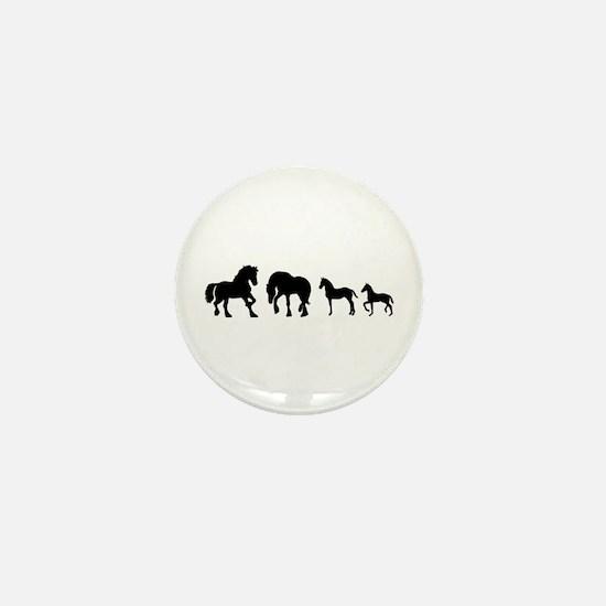 Cute Stallion Mini Button