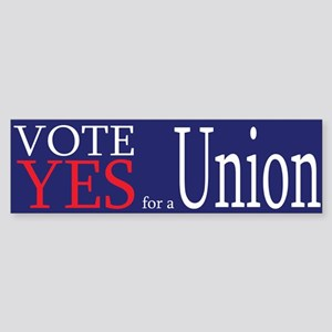 Democrat: Pro-Union (Bumper)
