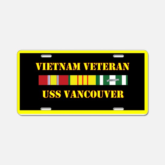 USS Vancouver Aluminum License Plate