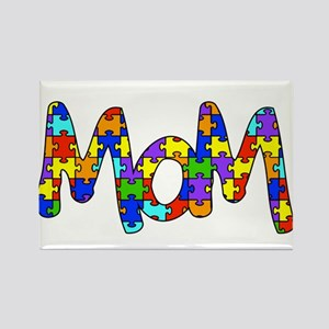 Mom Autism Awareness Rectangle Magnet