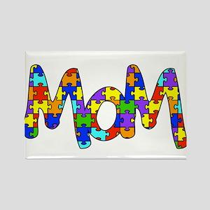 Mom Autism Awareness Rectangle Magnet
