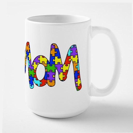 Mom Autism Awareness Large Mug