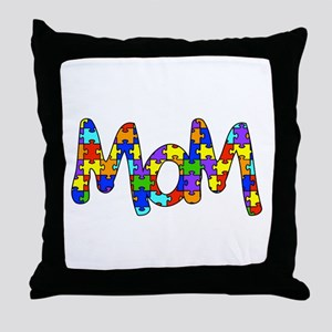 Mom Autism Awareness Throw Pillow