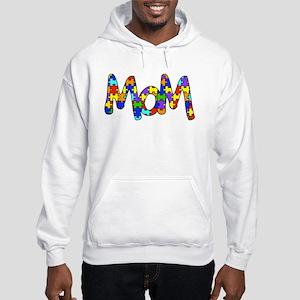 Mom Autism Awareness Hooded Sweatshirt