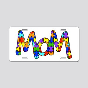 Mom Autism Awareness Aluminum License Plate