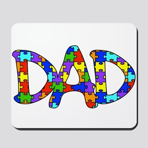 Dad Autism Awareness Mousepad