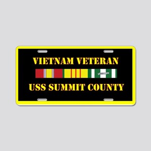 USS Summit County Aluminum License Plate