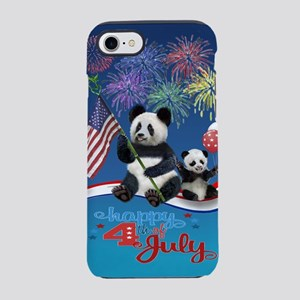 Patriotic Pandas iPhone 7 Tough Case