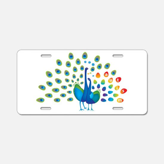 Autism peacocks Aluminum License Plate
