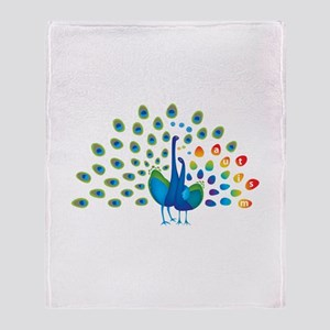 Autism peacocks Throw Blanket