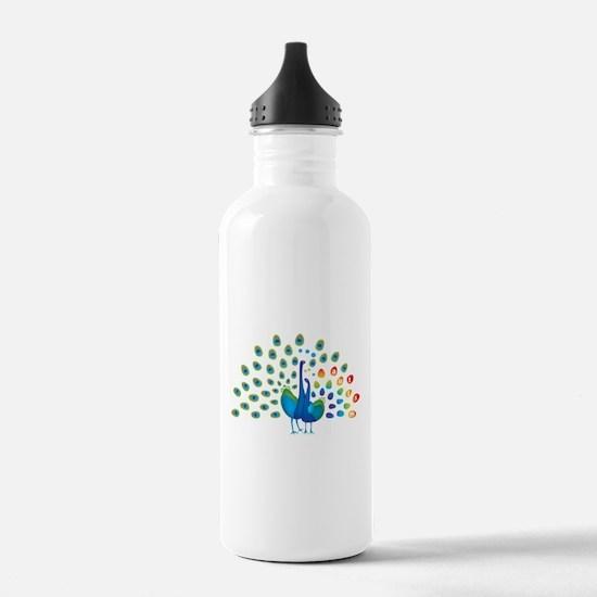 Autism peacocks Water Bottle