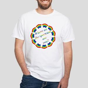 """Spectrum"" White T-Shirt"