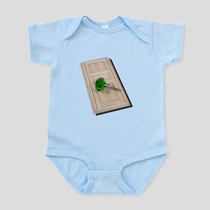 Door and Green Doorknob Infant Bodysuit