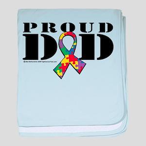 Autism Proud Dad baby blanket