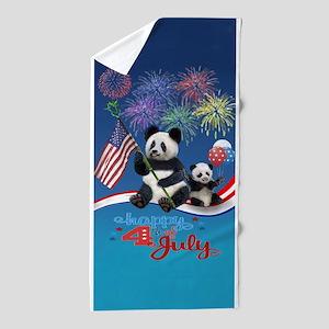 Patriotic Pandas Beach Towel