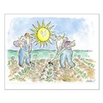 """""""Two Farmers"""" by Ed Koren - Small Poster"""